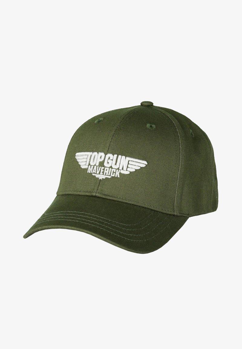 TOP GUN - STICKEREI  - Cap - olive