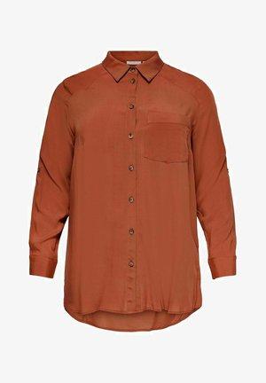 CARDENIZIA SOLID - Button-down blouse - arabian spice