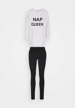 NAP QUEEN SET - Pyžamo - black/grey