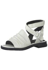 Marco Tozzi - Ankle cuff sandals - white/black - 2