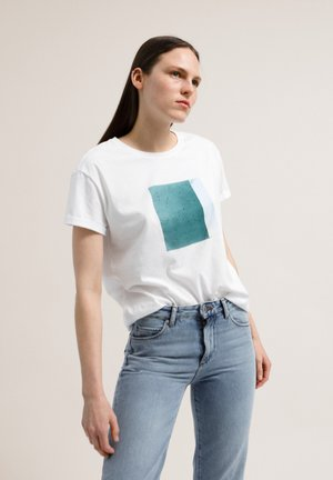 NAALIN SKY WITH BIRDS - Print T-shirt - white