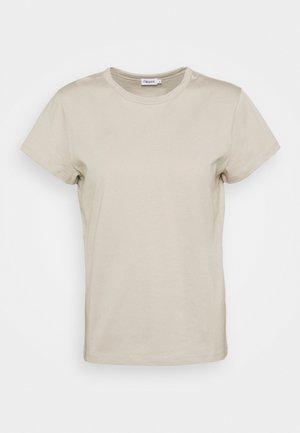 EDNA - Basic T-shirt - grey beige