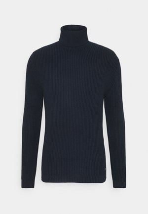 STRUCTURED TURTLENECK - Jumper - sky captain blue