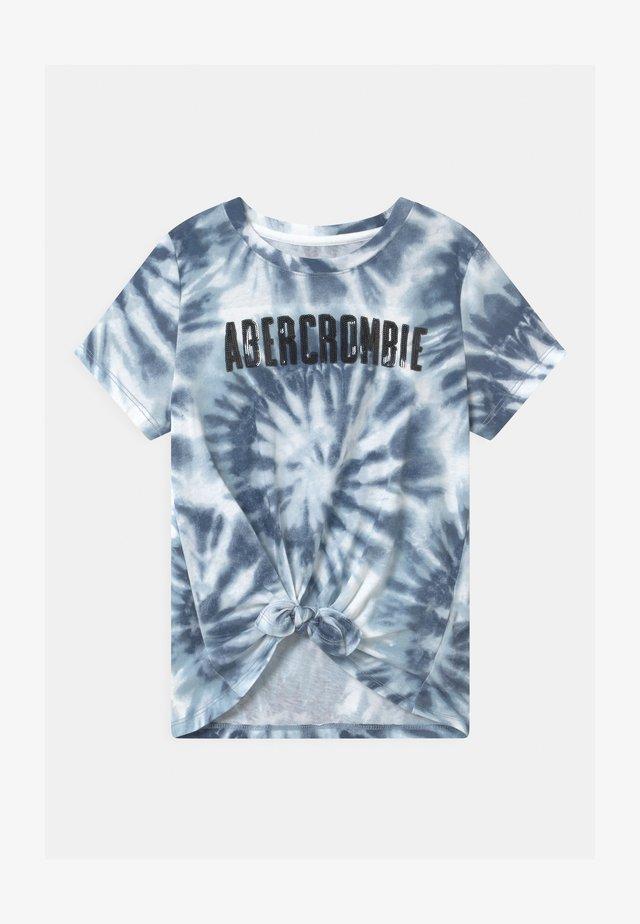 TECH CORE PATTE - T-shirt con stampa - blue/white