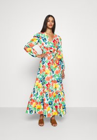 Glamorous - LONG SLEEVE WRAP MIDI DRESS - Maxi dress - large bright - 0