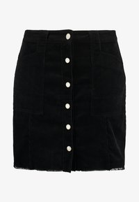 Missguided Plus - BUTTON FRONT SKIRT - Mini skirt - black