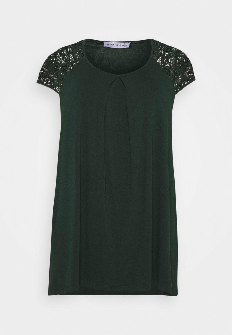 Anna Field Curvy - Print T-shirt - dark green