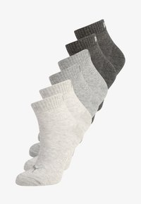 Puma - QUARTER 6 PACK - Sports socks - anthracite/light grey melange/medium grey melange - 0