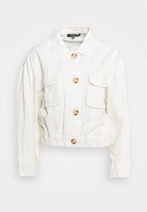 UTILITY POCKET SHACKET - Denim jacket - white