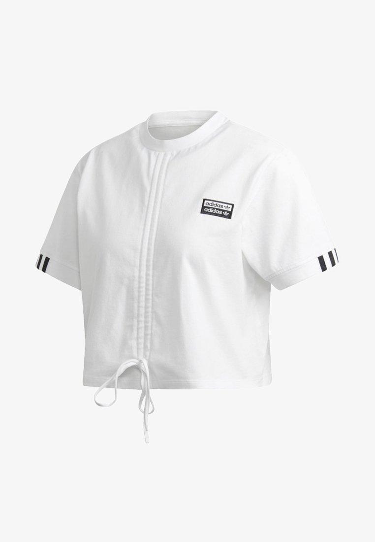 adidas Originals - RUCHED T-SHIRT - Print T-shirt - white