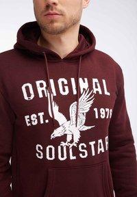 SOULSTAR - Hoodie - burgundy - 3