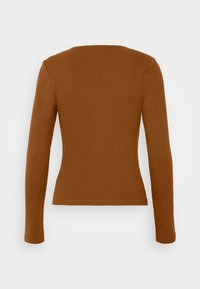 Vero Moda - VMNEWAVA SQUARE NECK - Long sleeved top - argan oil - 1