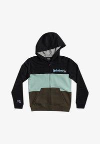 Quiksilver - TROPICAL BLOCK - Zip-up hoodie - dark grey heather - 0