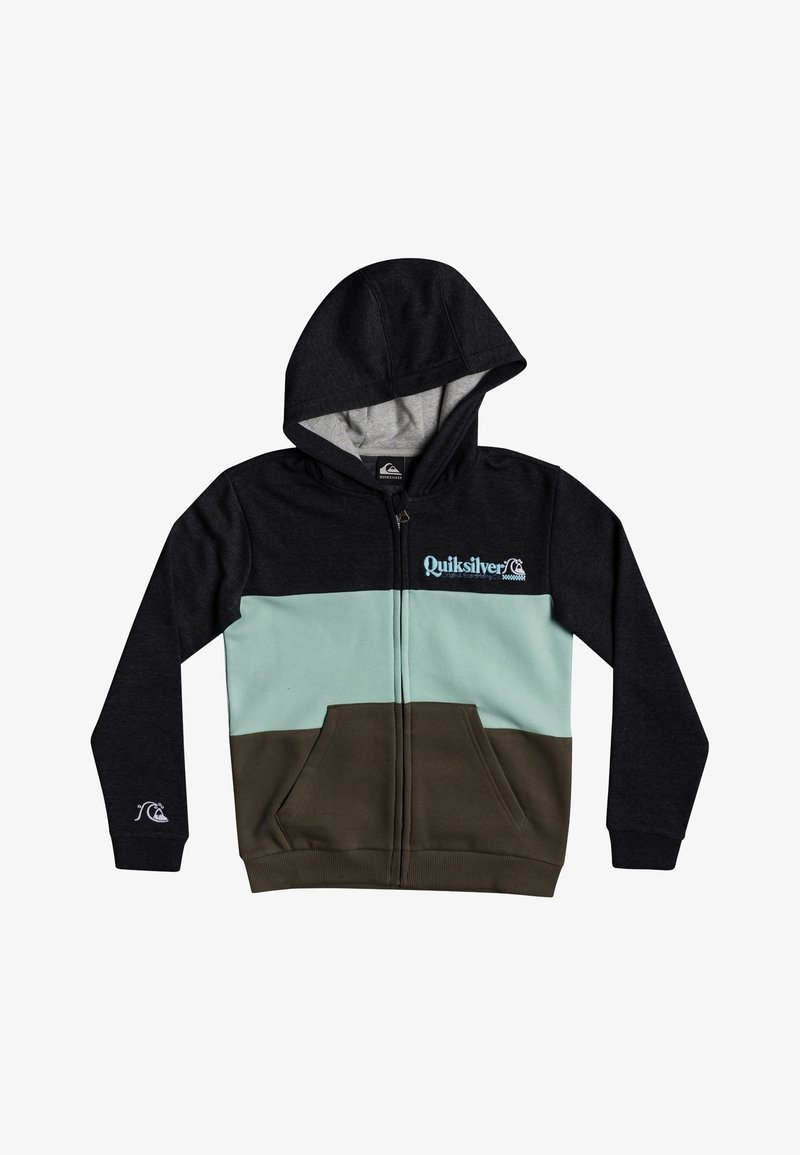 Quiksilver - TROPICAL BLOCK - Zip-up hoodie - dark grey heather
