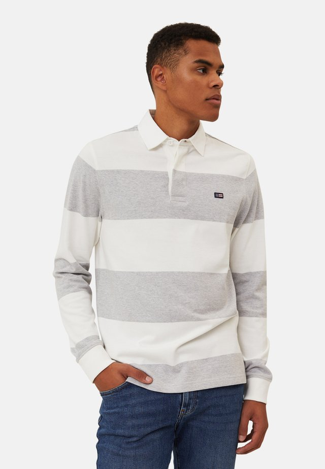 RUGBY - Polo shirt - gray/white stripe
