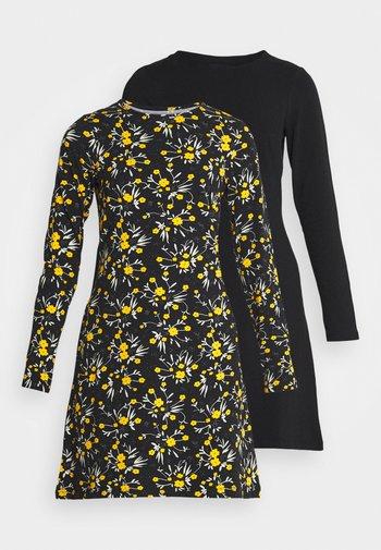 2 PACK - Vestito di maglina - black/multi-coloured