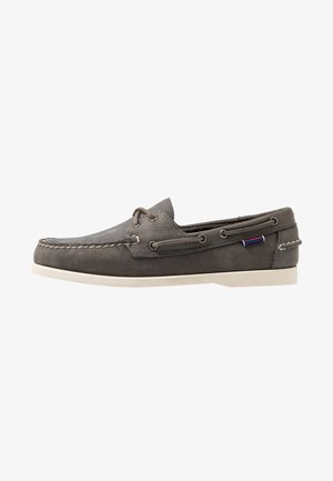 DOCKSIDES PORTLAND CRAZY HORSE - Boat shoes - dark grey