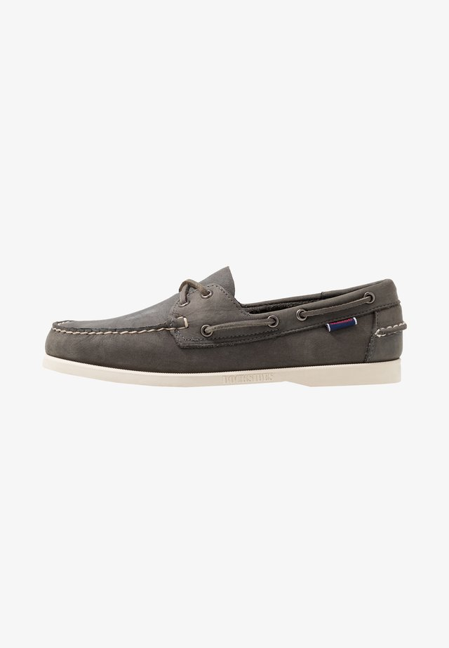 DOCKSIDES PORTLAND CRAZY HORSE - Náuticos - dark grey