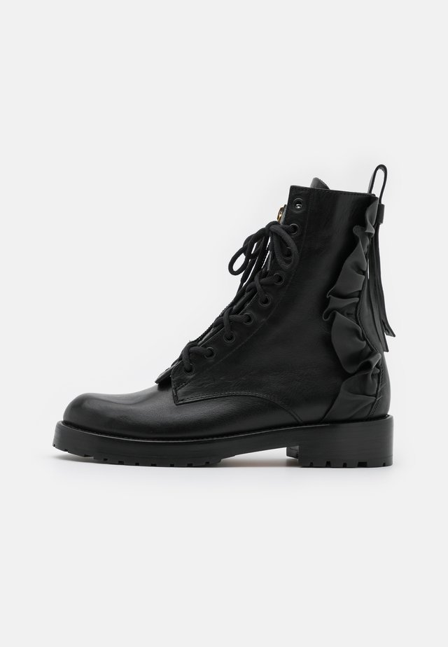 COMBAT BOOT - Lace-up ankle boots - nero