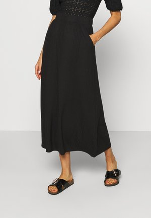 OBJCELIA LONG SKIRT TALL - Maxi skirt - black