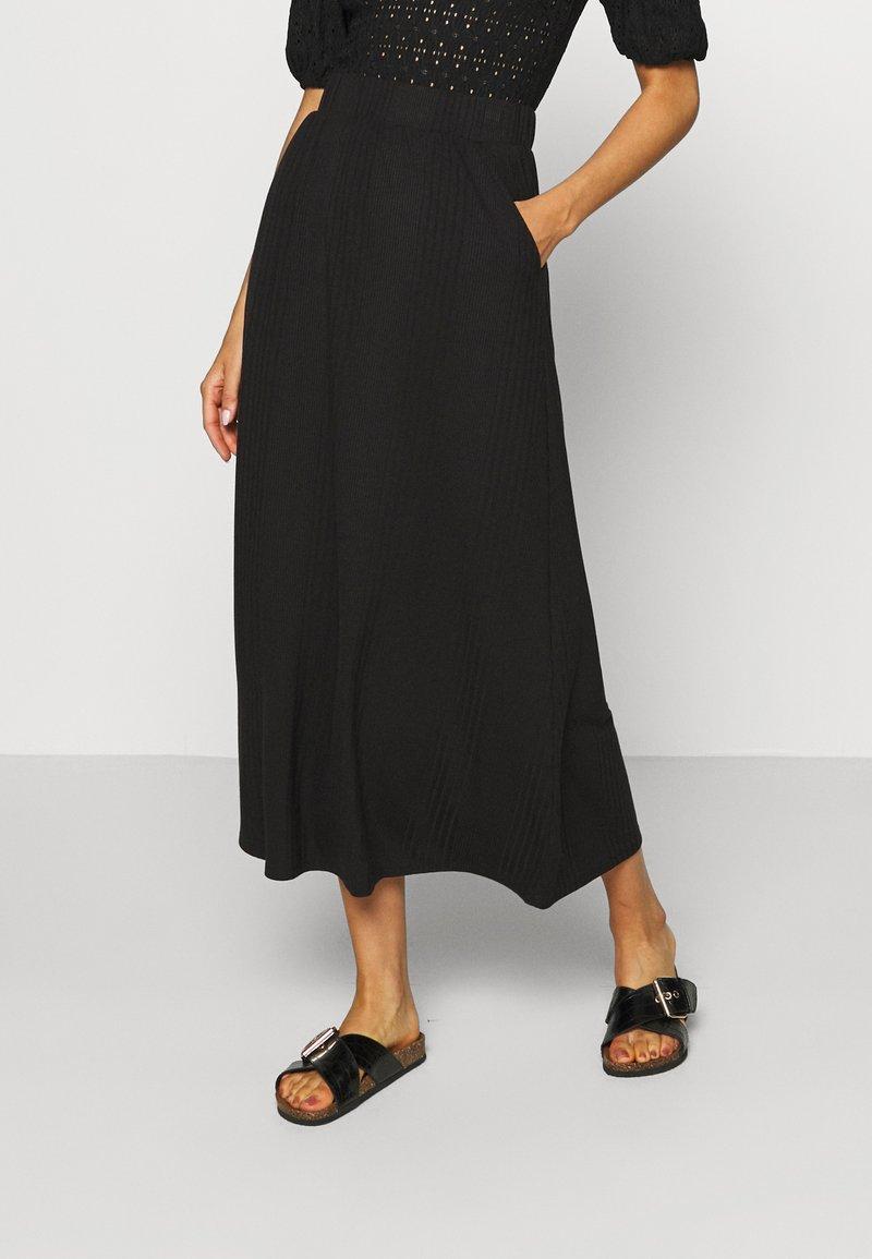 Object Tall - OBJCELIA LONG SKIRT TALL - Maxi skirt - black