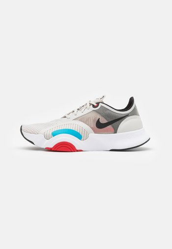 SUPERREP GO - Sports shoes - light bone/black/white/university red/light blue fury/black