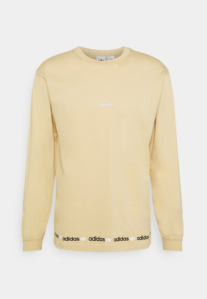 adidas Originals - LINEAR REPEAT ORIGINALS LONG SLEEVE - Long sleeved top - hazy beige