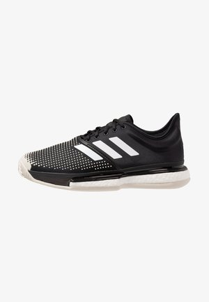 SOLECOURT BOOST CLAY - Clay court tennis shoes - clear black/footwear white/raw white