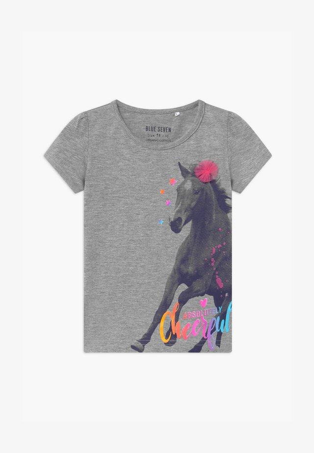 SMALL GIRLS HORSE - Print T-shirt - mittelgrau