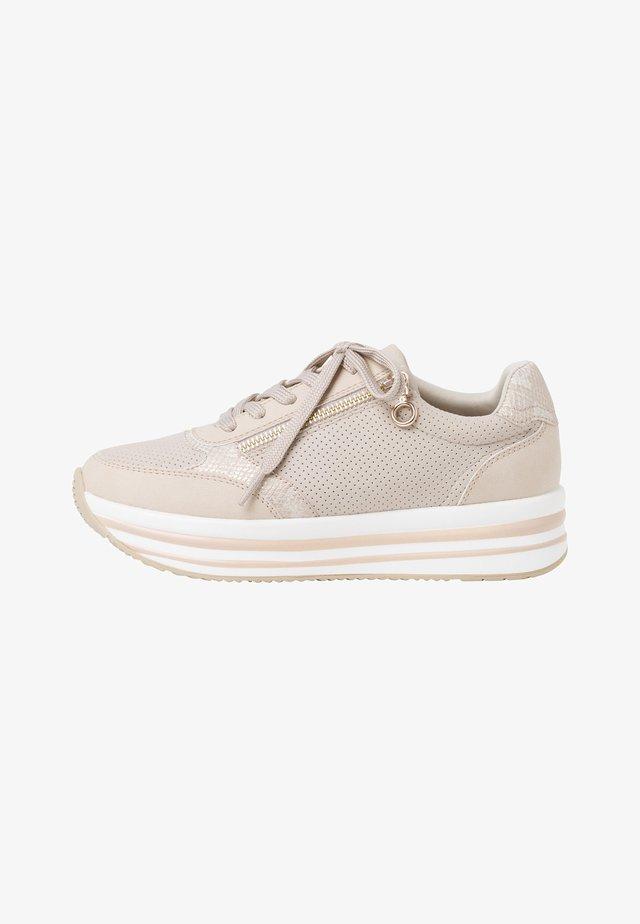 Sneakers laag - beige comb