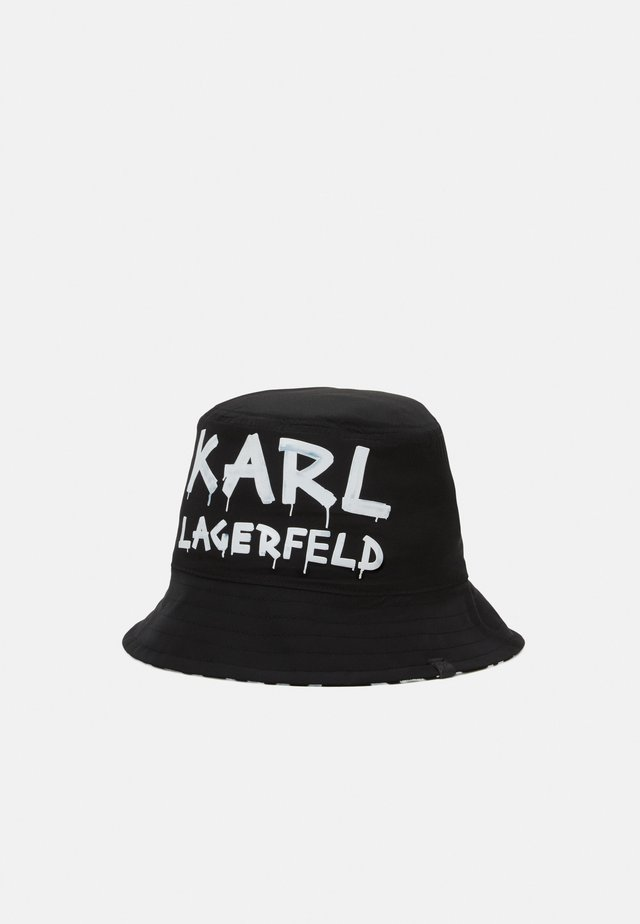 GRAFFITI BUCKET HAT - Klobouk - black/white