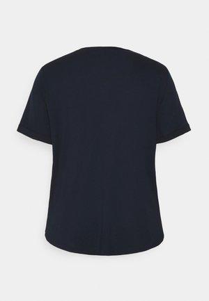 HAILLY SLEEVE - T-shirt z nadrukiem - navy