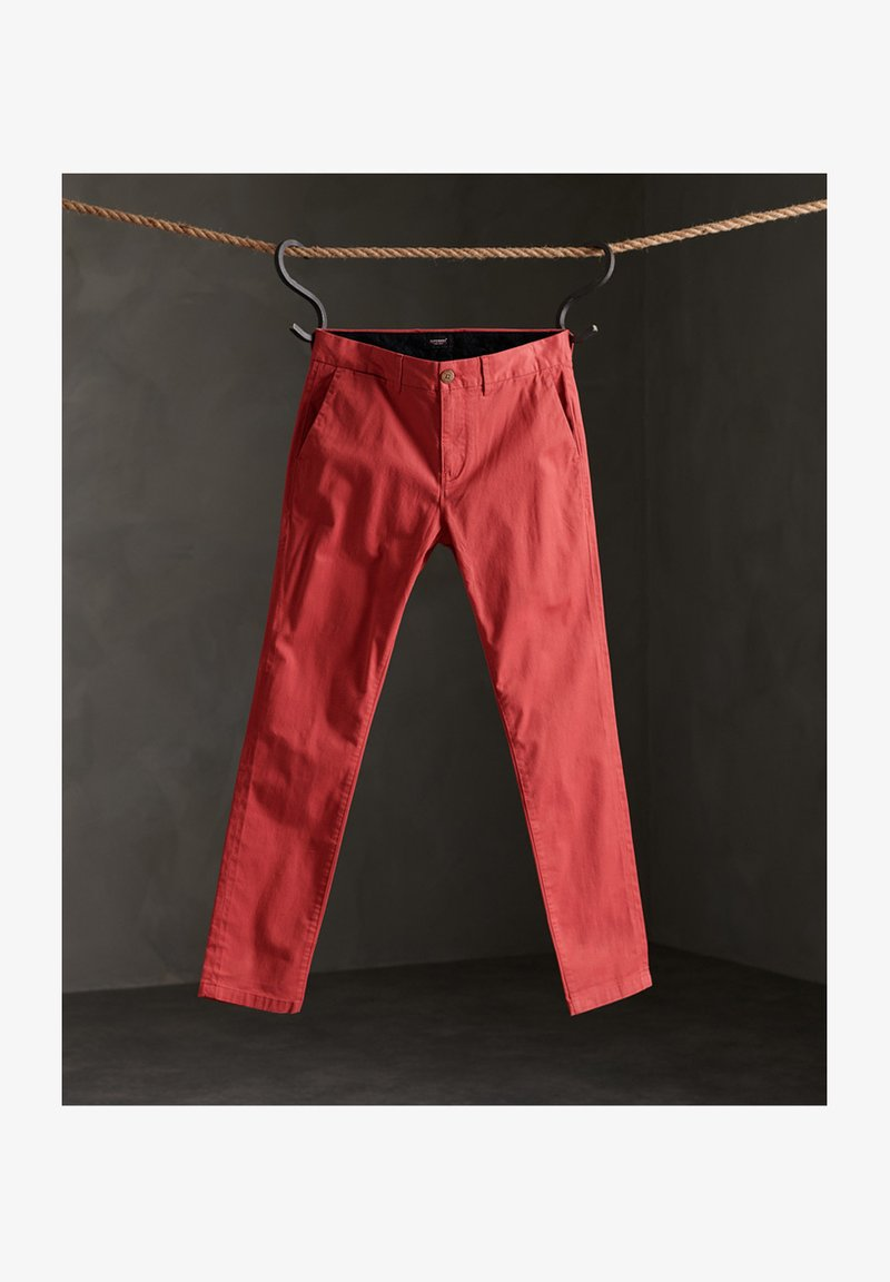 Superdry Chino - canyon pink/pink iLaTBZ