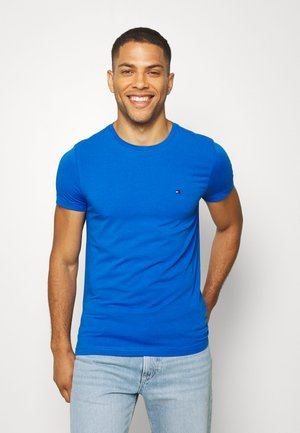 STRETCH TEE - T-shirt z nadrukiem - blue