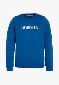 Calvin Klein Jeans - LOGO BRUSHED CREW NECK - Sweater - blue - 0