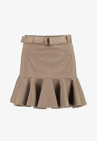 River Island - PRISCILLA FRILL HEM - A-line skirt - stone - 4