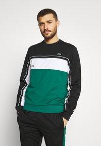 Lacoste Sport - TENNIS - Collegepaita - black/bottle green/white - 0