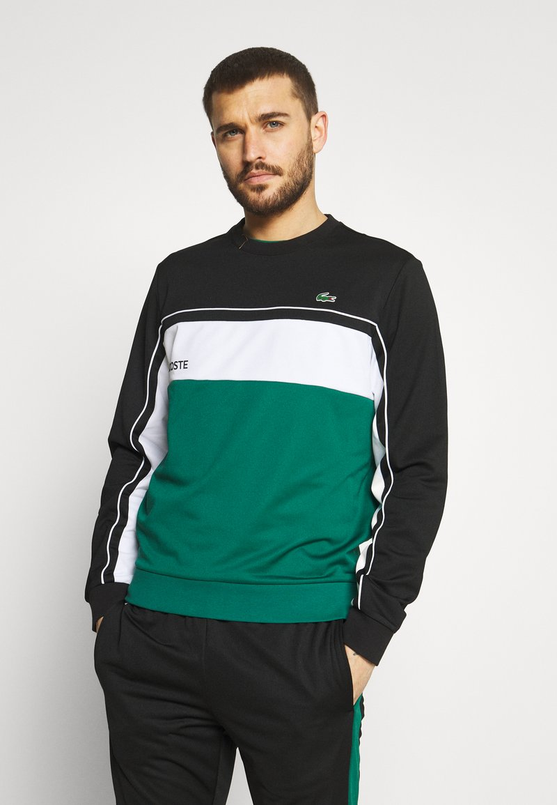 Lacoste Sport - TENNIS - Sweatshirt - black/bottle green/white