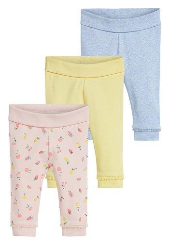 3 PACK FRUIT PRINT LEGGINGS - Leggings - Trousers - pink