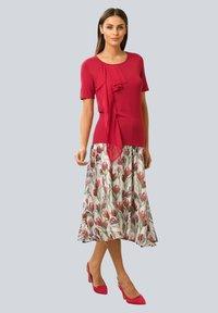 Alba Moda - A-line skirt - weiß,rot - 1