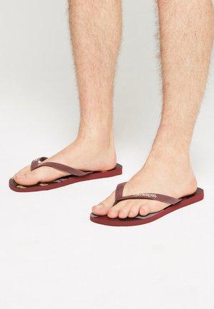 UNISEX - T-bar sandals - grape wine