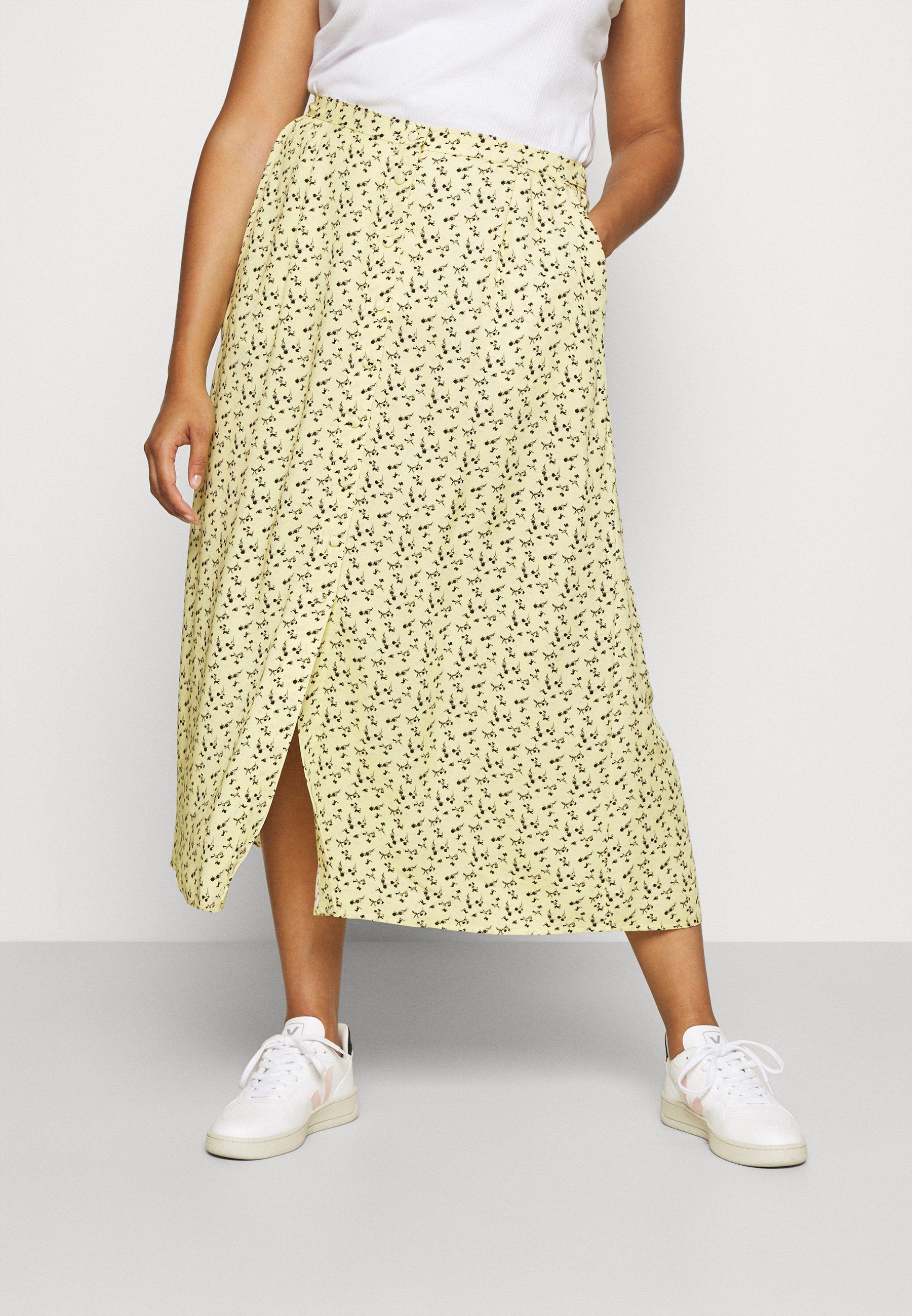 Women BUTTON UP MIDI SKIRT - A-line skirt
