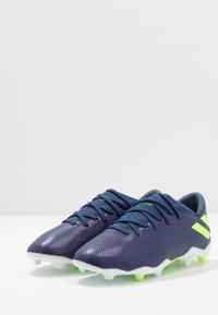adidas Performance - NEMEZIZ MESSI 19.3 FG - Moulded stud football boots - tech indigo/signal green/glow purple - 3