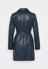 Who What Wear - BELTED JACKET DRESS - Robe d'été - dark navy - 1