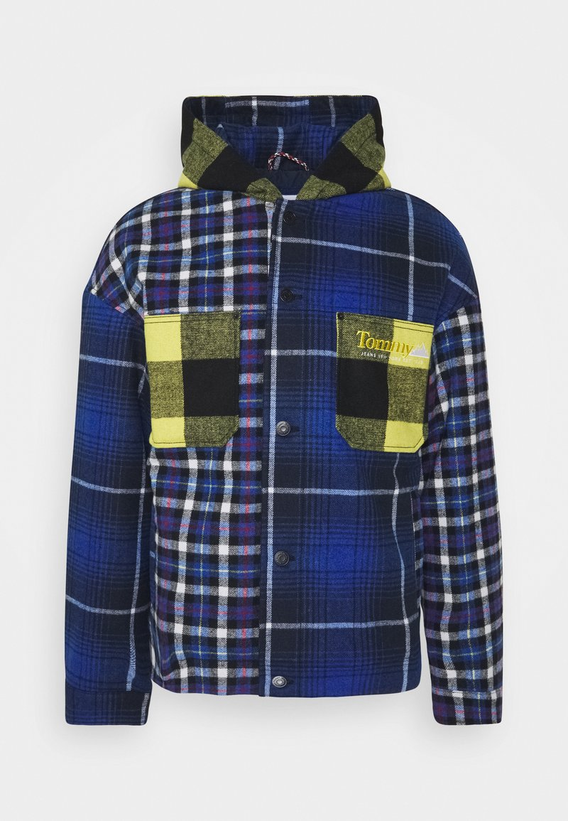 Tommy Jeans - MIX PLAID JACKET UNISEX - Lett jakke - twilight navy/multi