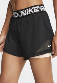Nike Performance - SHORT  - Pantalón corto de deporte - black/washed coral/white - 2