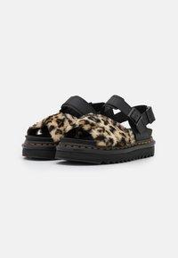 Dr. Martens - VOSS FLUFFY - Platform sandals - tan/black - 1