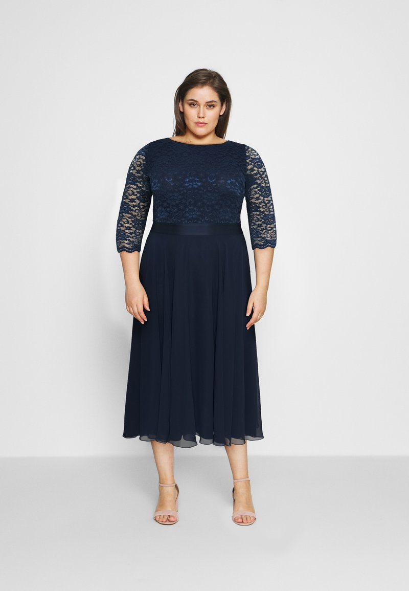 Swing Curve - Cocktail dress / Party dress - navy