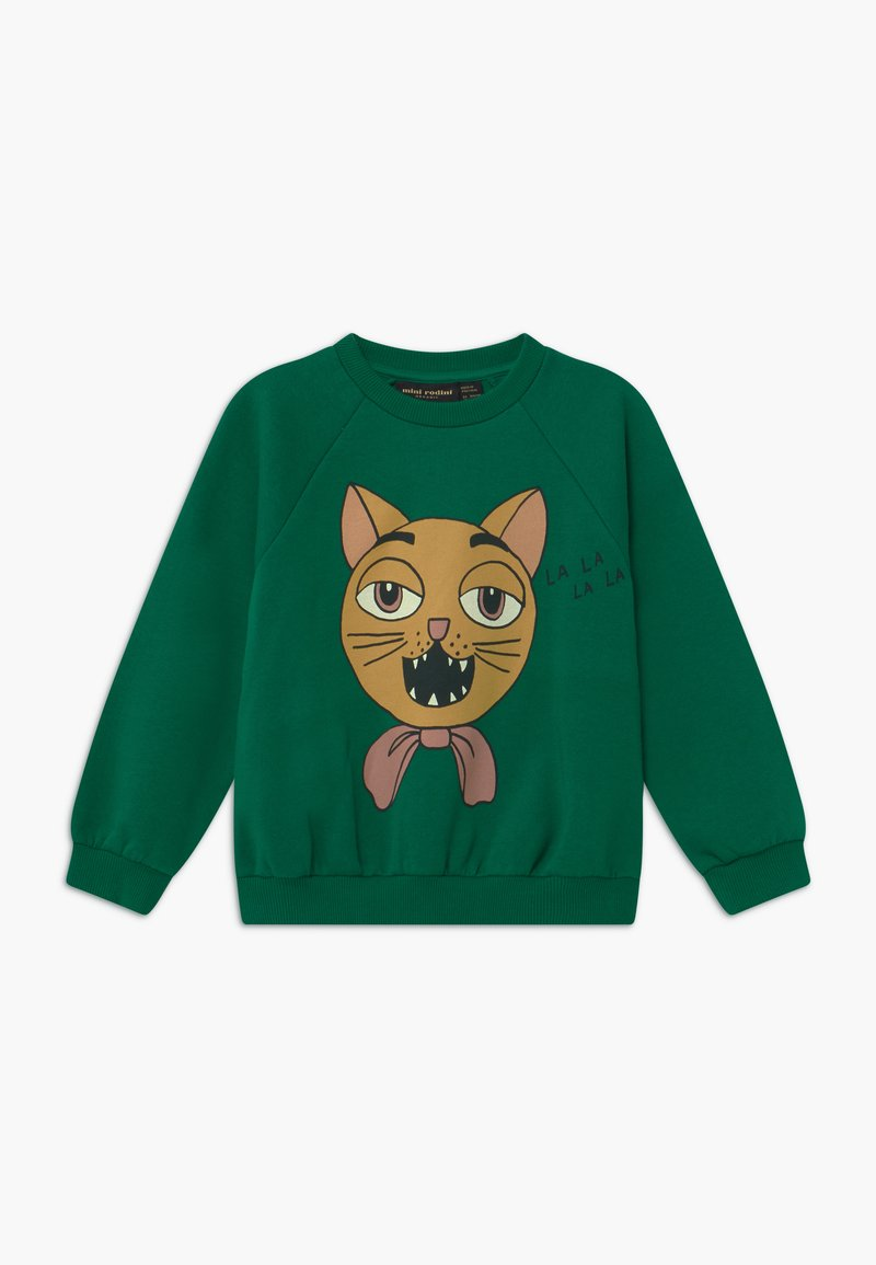 Mini Rodini - BABY CAT CHOIR SP SWEATSHIRT - Mikina - green