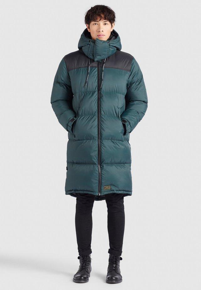 PERUN - Winterjas - dunkelgrün schwarz